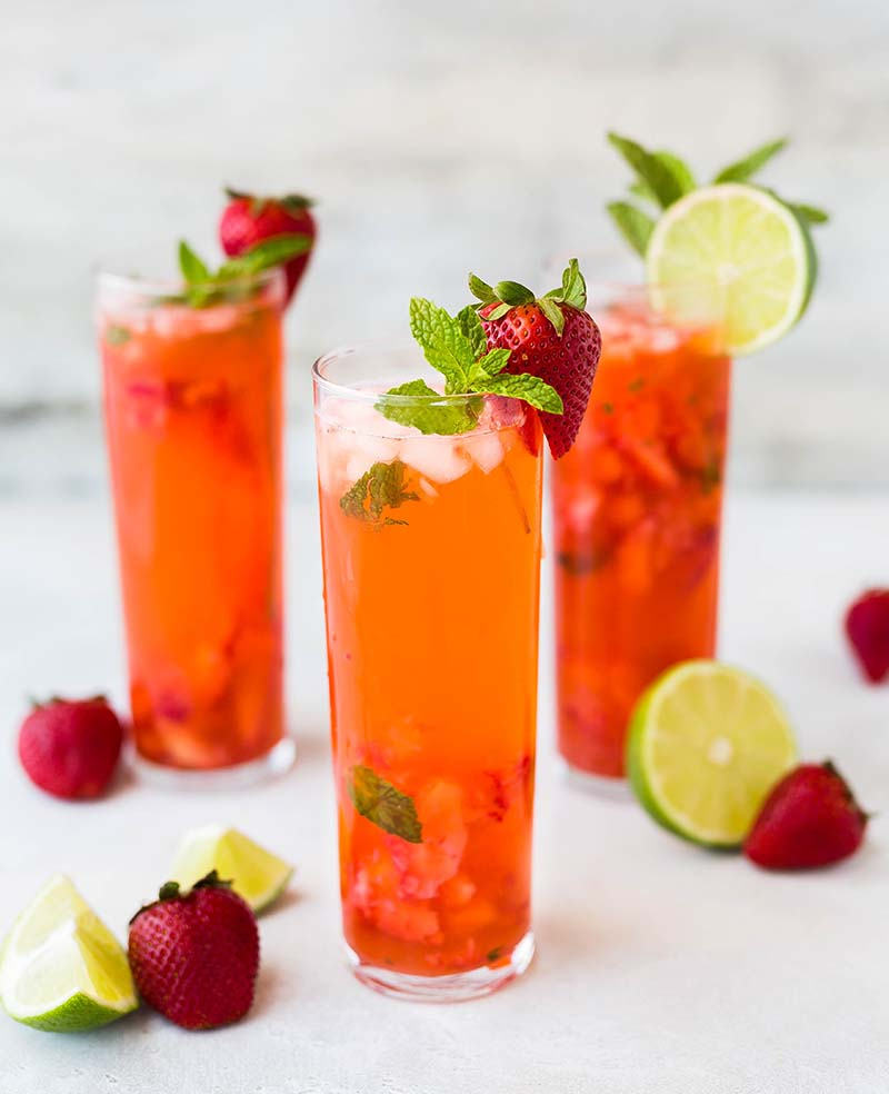 Tropical Breakfast Mocktail – QLD Strawberries